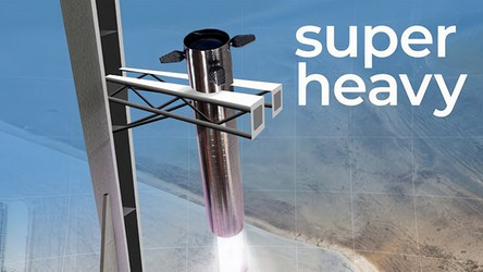 Tak niesamowicie będzie wyglądało lądowanie potężnej rakiety SuperHeavy [WIDEO]