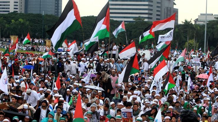 Największa manifestacja przeciwko decyzji USA ws. Jerozolimy. Protestowało 80 tys. ludzi