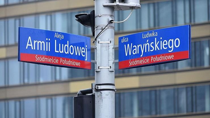 IPN apeluje, by władze Warszawy odstąpiły od przywracania zmienionych nazw ulic