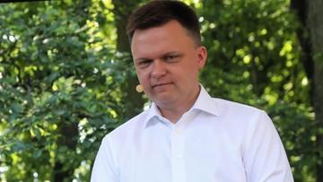 Spada poparcie dla ruchu Szymona Hołowni