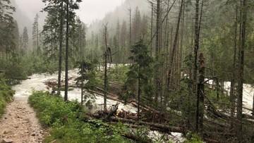 Deszcz zdemolował szlaki w Tatrach. Zablokowana droga do Morskiego Oka. Zakopane bez ujęcia wody