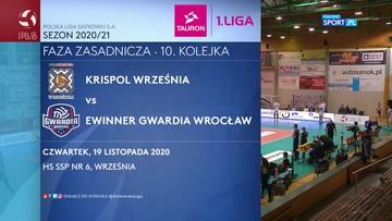 KRISPOL Września - eWinner Gwardia Wrocław 3:1. Skrót meczu