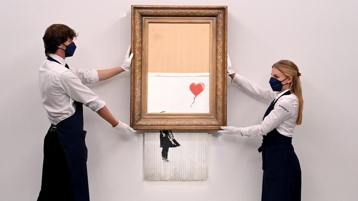 Zniszczone dzieło Banksy'ego wróciło na aukcję. Sprzedano je drożej niż wcześniej