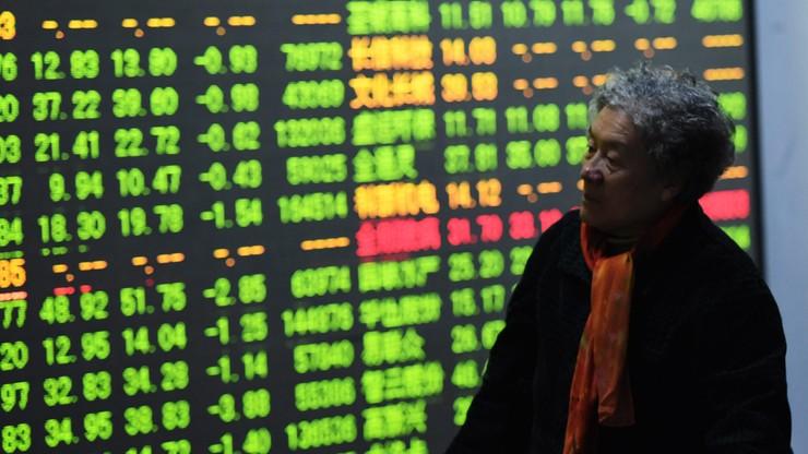 Silne spadki na giełdach w Chinach. Notowania wstrzymano