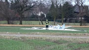 Rozbiła się replika samolotu Spitfire. Pilot w ciężkim stanie