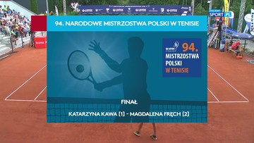 Magdalena Fręch - Katarzyna Kawa: Skrót finału tenisowych mistrzostw Polski