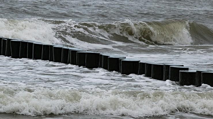 Silny wiatr nad morzem. Alert IMGW