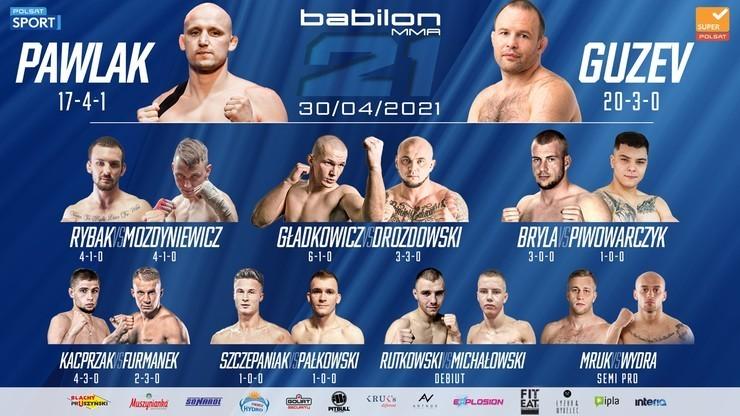 Babilon MMA 21: Paweł Pawlak - Siergiej Guzew. Transmisja TV i stream online