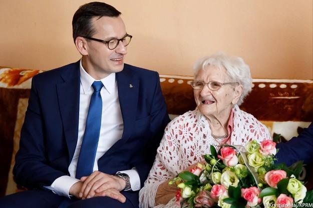 Premier Mateusz Morawiecki złożył życzenia najstarszej Polce. Skończyła 115 lat
