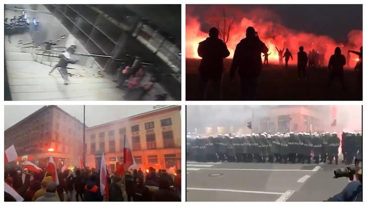 Policja publikuje nagrania ze starć podczas Marszu Niepodległości
