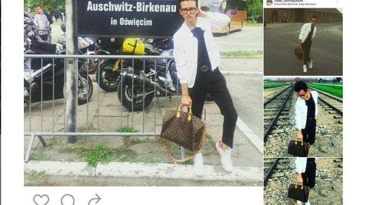 Bloger modowy urządził sesję zdjęciową w byłym obozie Auschwitz