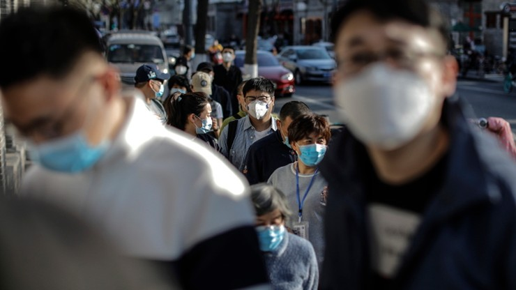 Wzrost liczby zakażonych koronawirusem w Chinach