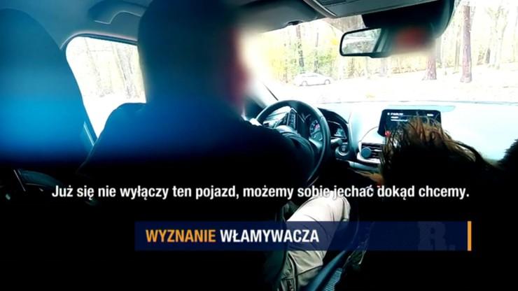 """Wyznania włamywacza - nowe metody kradzieży aut. """"Raport"""" w Polsat News"""