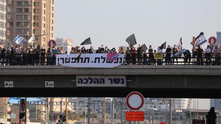 Protesty przeciwko Netanjahu w Jerozolimie i Tel Awiwie