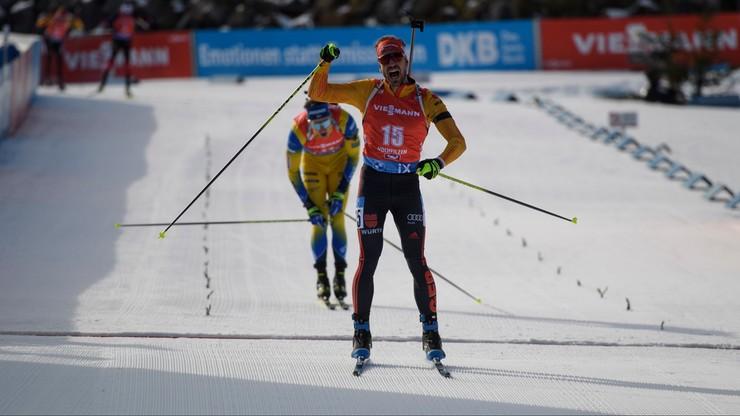 PŚ w biathlonie: Triumf Peiffera w pierwszym biegu ze startu wspólnego