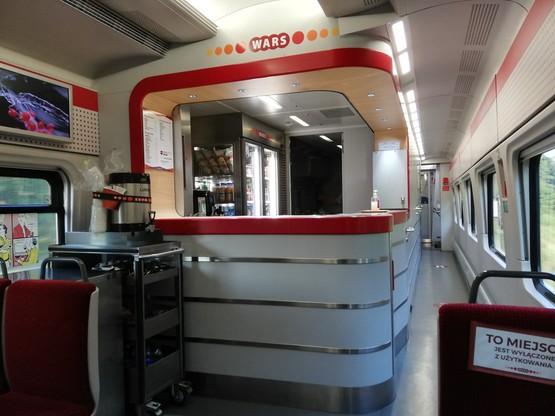 Wystarczy WARS. Pasażerom nie zależy, by w pociągach były automaty z przekąskami i napojami