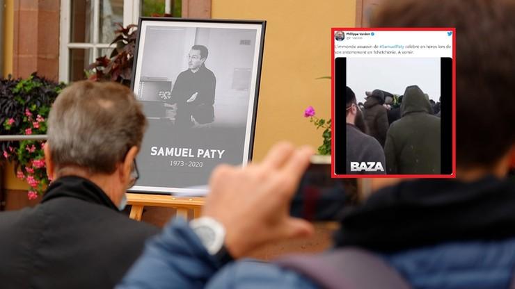 """Setki osób na pogrzebie zabójcy francuskiego nauczyciela. """"Jest bohaterem"""""""