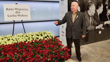 Ponad tysiąc róż dla Lecha Wałęsy