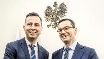 Kosiniak-Kamysz przekazał znak pokoju premierowi. Morawiecki odpowiedział