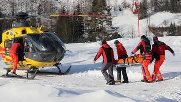 Lawina w Tatrach. Czterech turystów w szpitalu