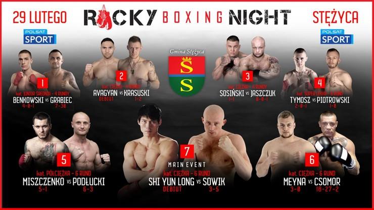 Rocky Boxing Night: Były mistrz Chin przeciwnikiem Sowika w walce wieczoru