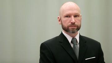 """Breivik przegrał proces. ws. """"nieludzkiego traktowania"""" go w więzieniu"""