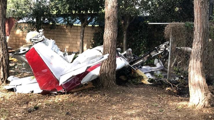 Dwie osoby zginęły w katastrofie awionetki w Kalifornii. Maszyna spadła na szopę