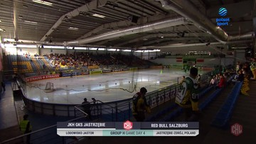 Liga Mistrzów: JKH GKS Jastrzębie - Salzburg 2:3. Skrót meczu