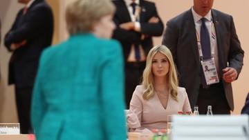 Ivanka zamiast Donalda przy stole obrad szczytu G20. Ojciec poszedł na spotkanie bilateralne