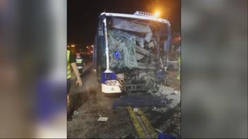 Czołowe zderzenie autobusów w Bydgoszczy. 12 osób zostało rannych