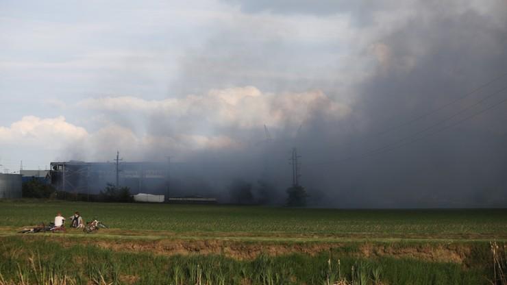 Wielkopolska: pożar hali w stoczni produkującej jachty w Zakrzewie