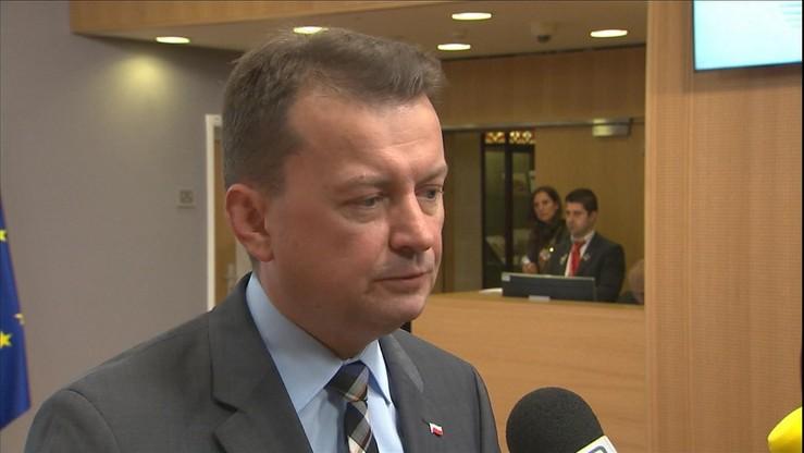 """Błaszczak: Polska nie przedstawi deklaracji ws. przyjmowania uchodźców. """"Nie będę narażał Polaków"""""""