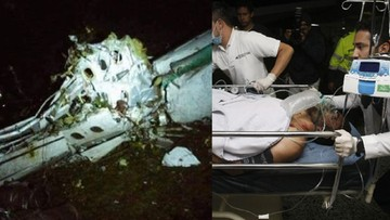 Pięć osób, w tym trzech piłkarzy, przeżyło katastrofę samolotu