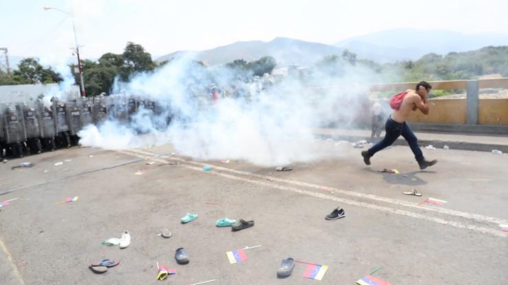 Starcia o pomoc humanitarną wysłaną do Wenezueli. Nie żyją dwie osoby