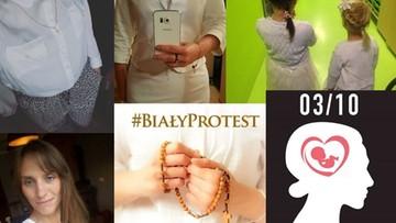 """""""Biały protest"""" w kontrze do """"czarnego"""" strajku kobiet"""