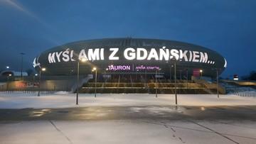 """""""Myślami z Gdańskiem..."""" - napis na Tauron Arenie Kraków"""