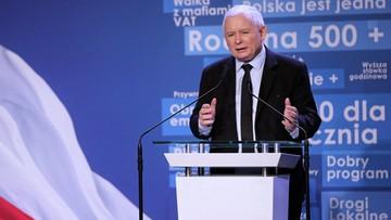 """""""Zawsze cieszę się, kiedy jestem nazywany dyktatorem"""". Kaczyński odpowiada na okrzyki"""