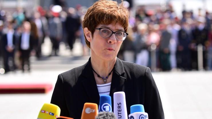 Kramp-Karrenbauer nową minister obrony Niemiec