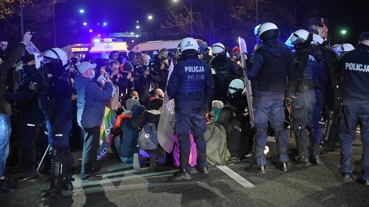 Protest przed resortem edukacji. Statystyki policji