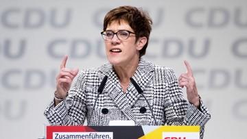 Annegret Kramp-Karrenbauer nową szefową CDU. Zastąpi Angelę Merkel