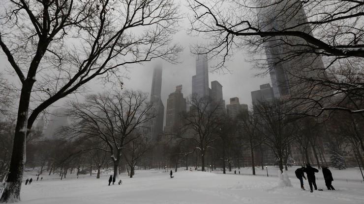 Śnieżyca w Nowym Jorku. Zamknięto lotniska, wstrzymano pociągi