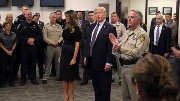 """""""Ameryka jest pogrążona w żałobie"""". Prezydent Trump z wizytą w Las Vegas"""