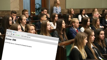 """Sejm Dzieci i Młodzieży bez obrad 1 czerwca i bez strony internetowej. Kancelaria milczy o """"awarii"""""""