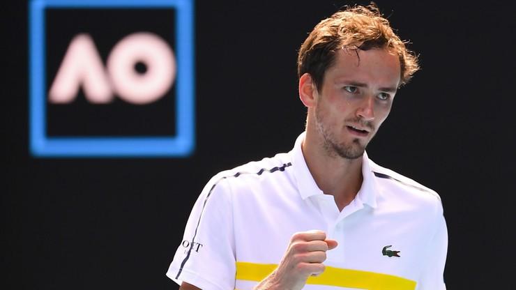 Australian Open: Pięciosetowy triumf Daniiła Miedwiediewa. Trzech Rosjan w 1/8 finału