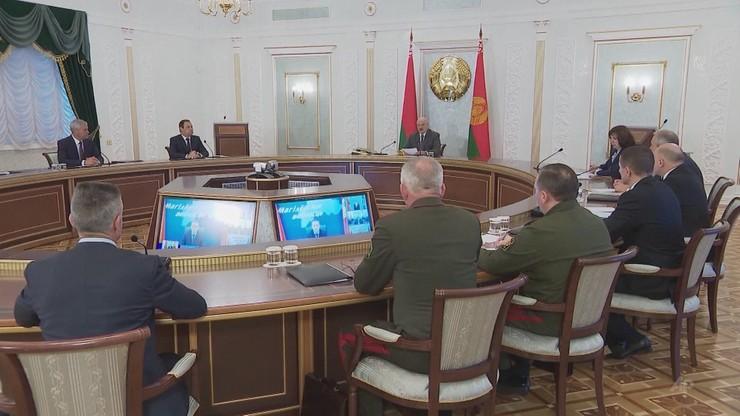 Łukaszenka: Zachód chce odciąć Grodno, wywieszają tam polskie flagi