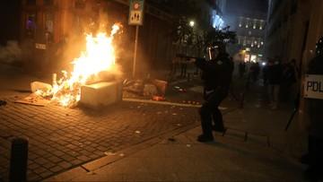 Starcia z policją w Madrycie i Barcelonie po zatrzymaniu rapera