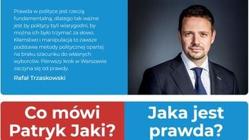 """Trzaskowski uruchomił stronę internetową. Chce walczyć """"o politykę opartą na faktach"""""""
