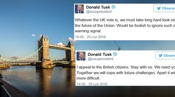 Donald Tusk apeluje do Brytyjczyków: zostańcie z nami w UE