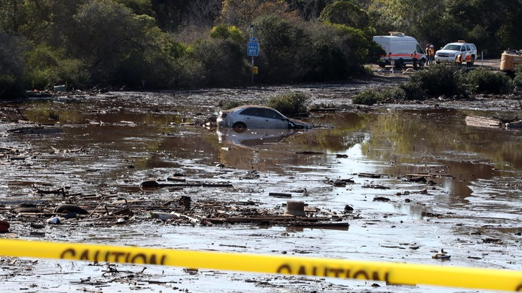 Do 20 wzrosła liczba ofiar śmiertelnych lawin błotnych w Kalifornii