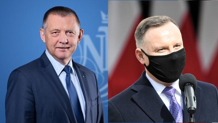 """Prezydent spotkał się z Marianem Banasiem. Rozmawiali o """"stanie państwa"""""""